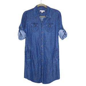 Banana Republic | Chambray Pocketed Shirt Dress 2